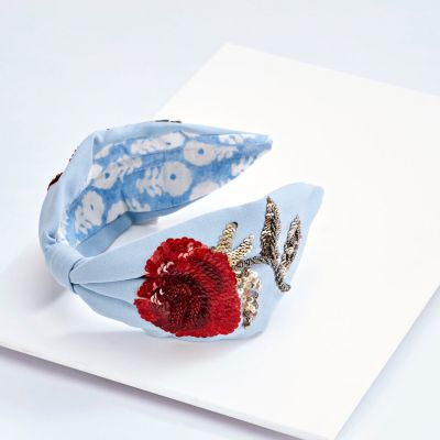 ROSELLE BLUE HEADBAND