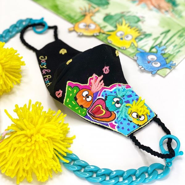 CHARLIE & LITTLE BUBS MASK with mask chain- KIDS