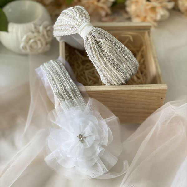 Pack of Taylor ivory headbands