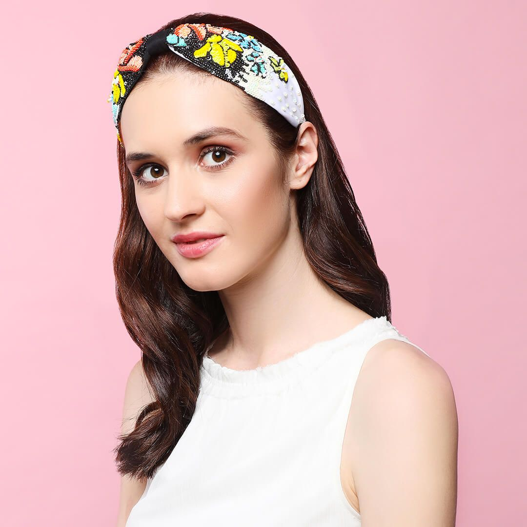 GABRIELLA BLACK HEADBAND