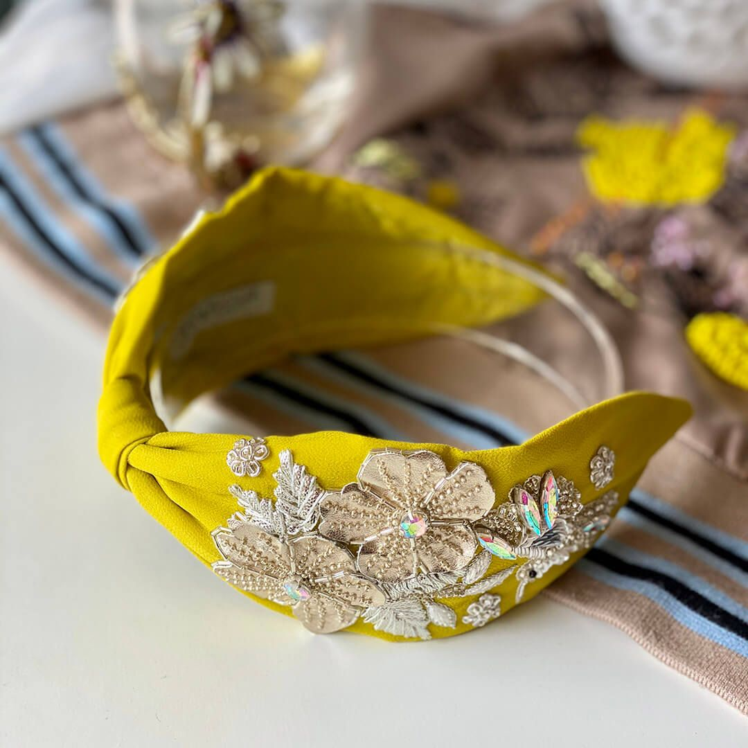 KEIRA HEADBAND-Yellow
