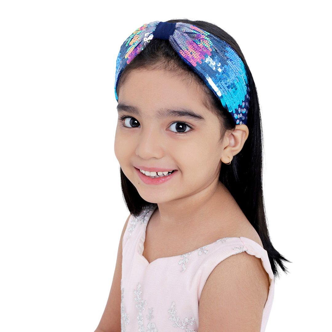 SERENA BLUE HEADBAND on kids