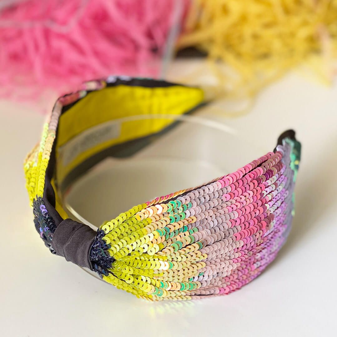 SERENA HEADBAND-RAINBOW